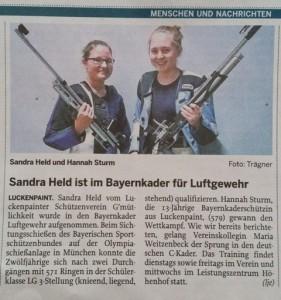 Held Sandra im Bayernkader